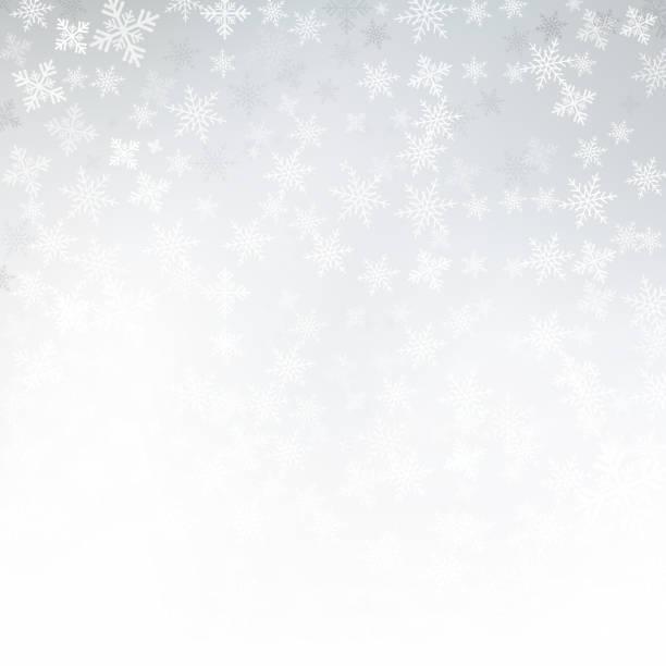 ilustraciones, imágenes clip art, dibujos animados e iconos de stock de fondo blanco invierno navidad hecho de copos de nieve y nieve con espacio de copia en blanco para el texto, vector - snowflake background