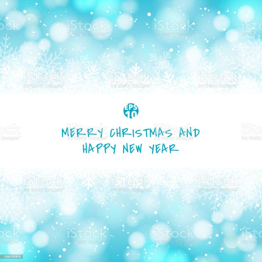 Winter Weiße Weihnachten Bokeh Blau Und Funkelnde Lichter Festlichen ...