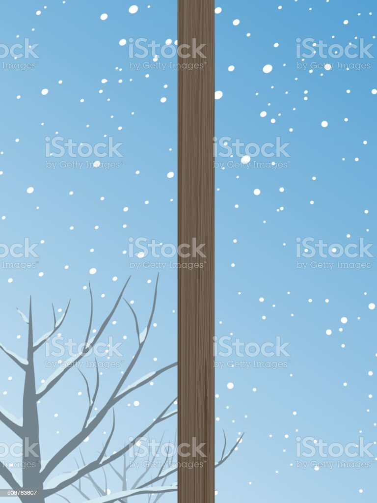 Winter Window vector art illustration