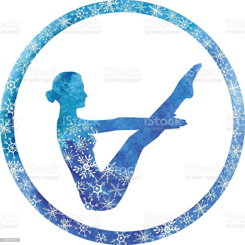 Winter Yoga Boat Pose Stock Illustration Download Image Now Istock