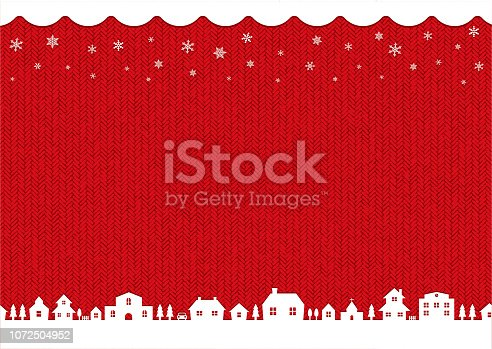winter,christmas background image (knit pattern) / red