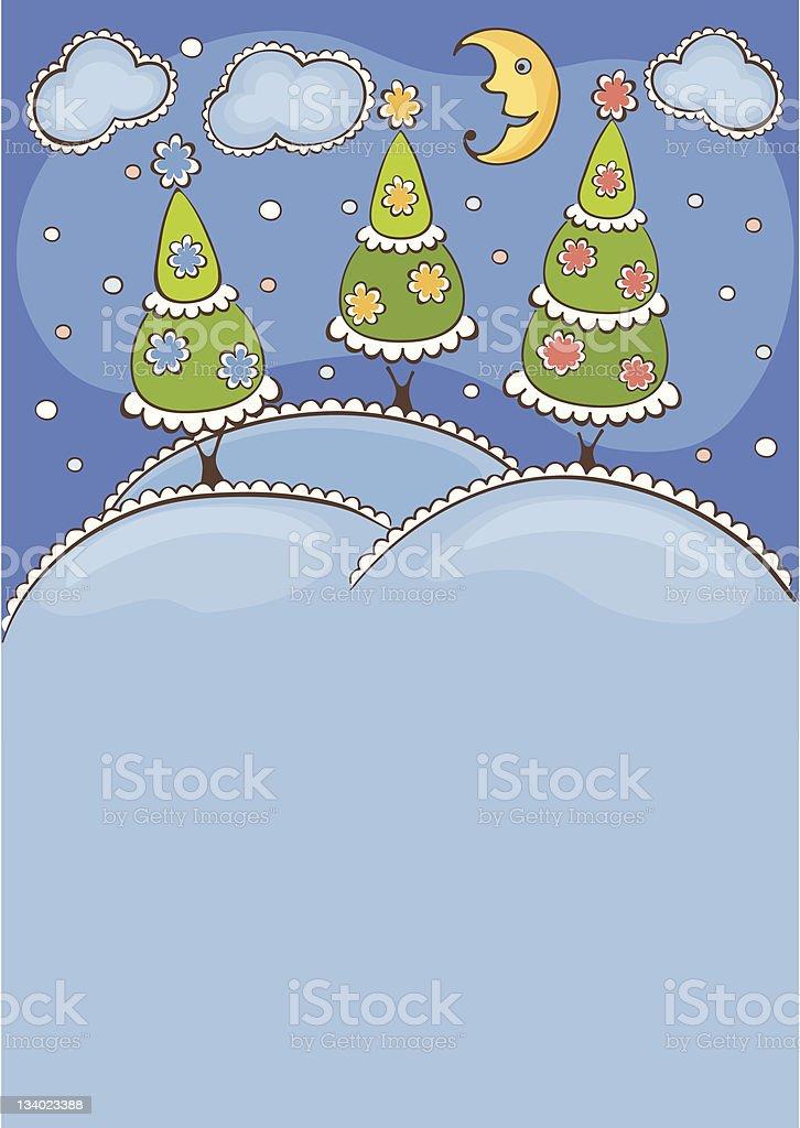 Winter's Tale royalty-free stock vector art