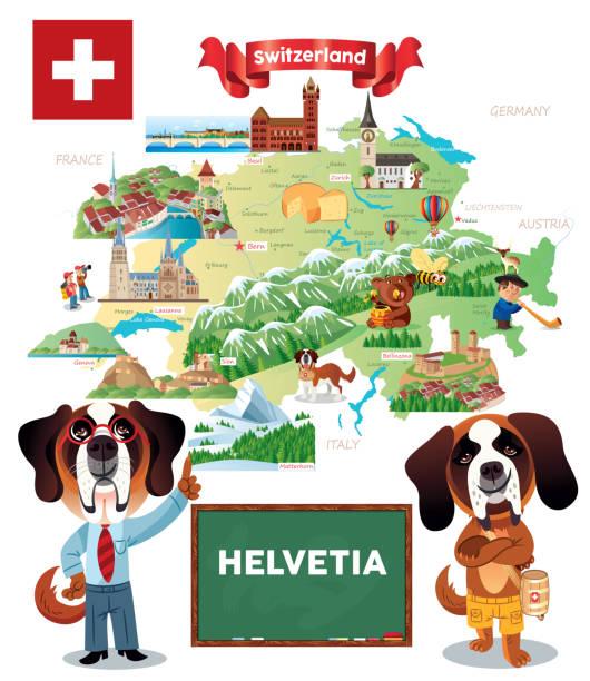 helvetia travel, winterthur,herisau, appenzell, zürichsee, liestal, aarau, olten, porrentruy, delemont, solothurn, biel, zug,  niederurnen, glarus, schwyz, neuchatel, fribourg, thun, burgdorf, altdort, andermatt, gletsch, locarno, brig, sierre, - locarno stock-grafiken, -clipart, -cartoons und -symbole