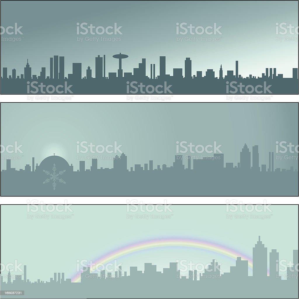 Wintertime City Skyline 01 royalty-free wintertime city skyline 01 stock vector art & more images of blue