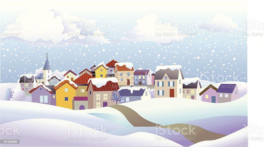 Wintertime houses royalty-free wintertime houses stock vector art & more images of abundance