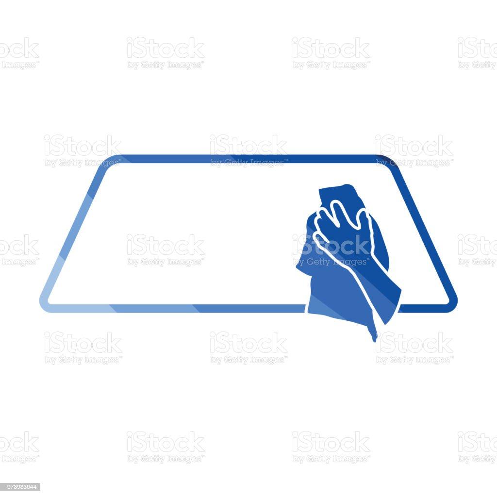 Wipe car window icon vector art illustration