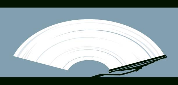 wiper reinigt dirty glass - fenster putzen stock-grafiken, -clipart, -cartoons und -symbole