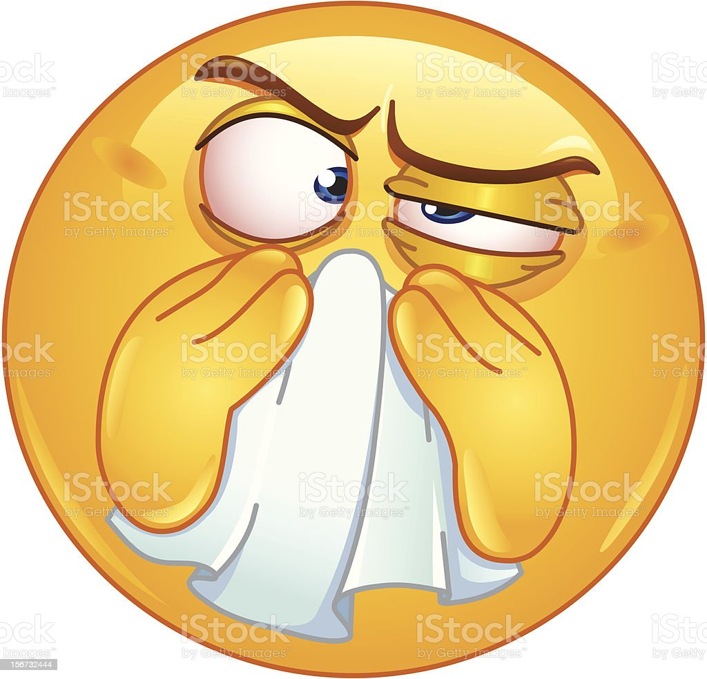 Wiping nose emoticon royalty-free wiping nose emoticon stock vector art & more images of adult