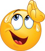 Wiping sweat emoticon