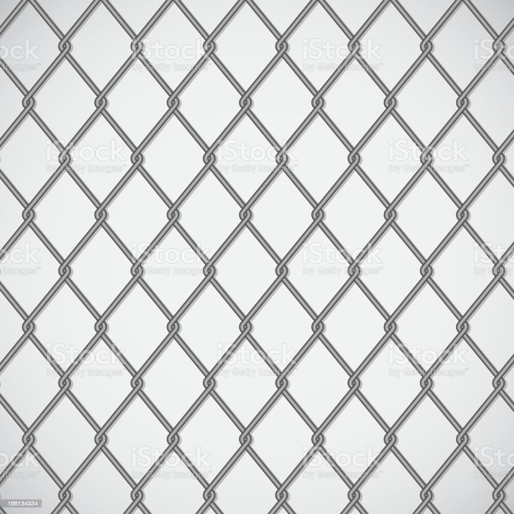 Wire Fence On White Background Stock Vector Art & More Images of ...