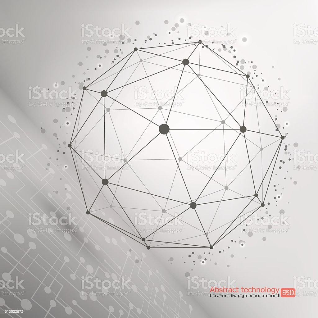 Marco De Malla De Alambre Poligonal Elemento - Arte vectorial de ...