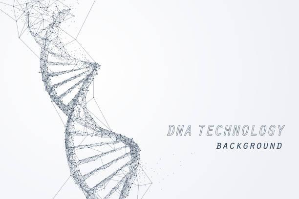 ilustraciones, imágenes clip art, dibujos animados e iconos de stock de marco de alambre de adn virtual, tecnología y concepto médico - adn