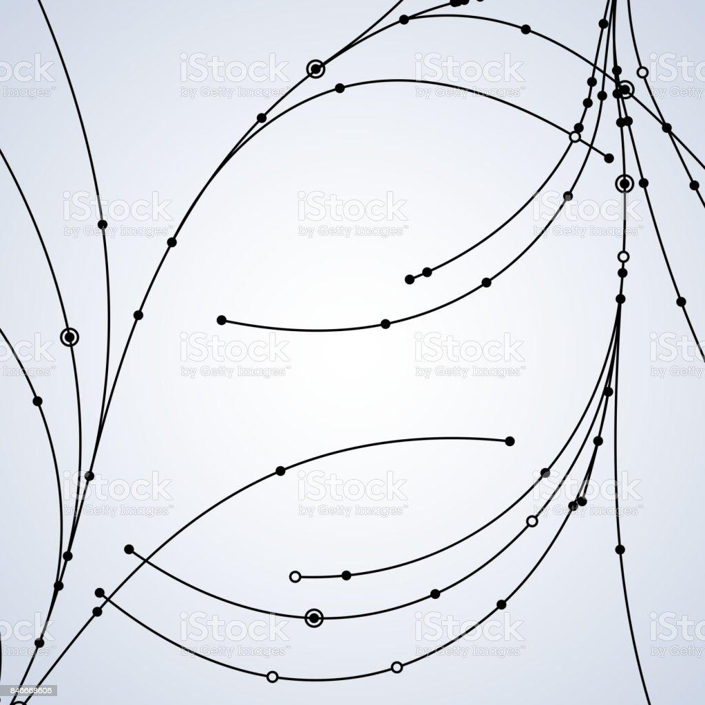 Drahtnetz Verbundene Punkte Gemacht Stock Vektor Art und mehr Bilder ...