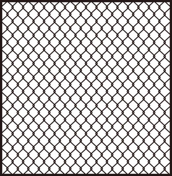 金網 フェンス 背景素材 ベクターイラスト ベクターアートイラスト