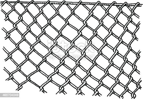 Wire Mesh Fence Drawing Stock Vector Art & More Images of