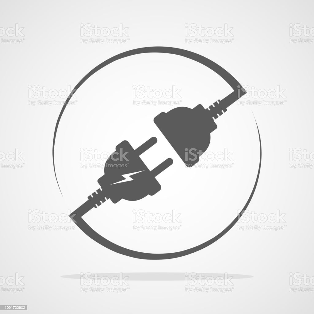 Wire, plug and socket. Vector illustration. royalty-free wire plug and socket vector illustration stock illustration - download image now