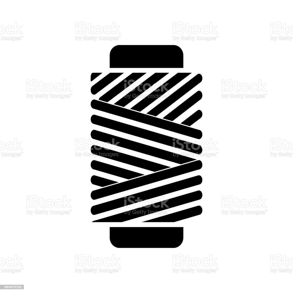 Wire Roll Icon Vector Icon Simple Element Illustration Wire Roll