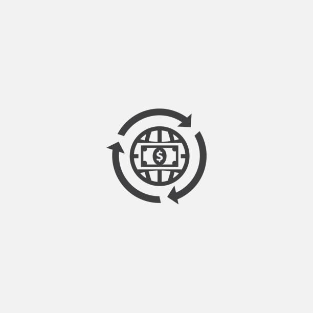 ilustrações, clipart, desenhos animados e ícones de ícone de base de transferência de arame. ilustração simples do sinal. projeto do símbolo da transferência de fio. pode ser usado para a correia fotorreceptora, a cópia e o móbil - arame