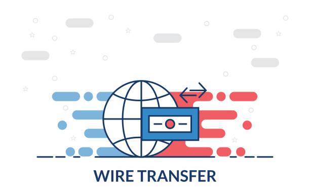 wire transfer icon wire transfer icon transfer image stock illustrations