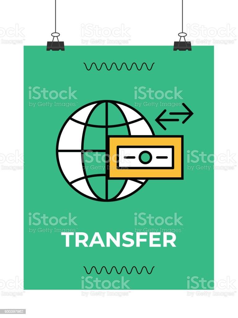 Wire Transfer Icon Stock Vector Art & More Images of Bank 930397962 ...