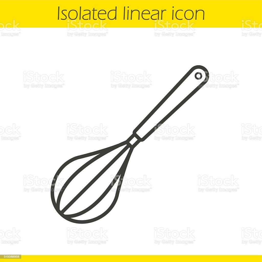 Wire whisk icon vector art illustration