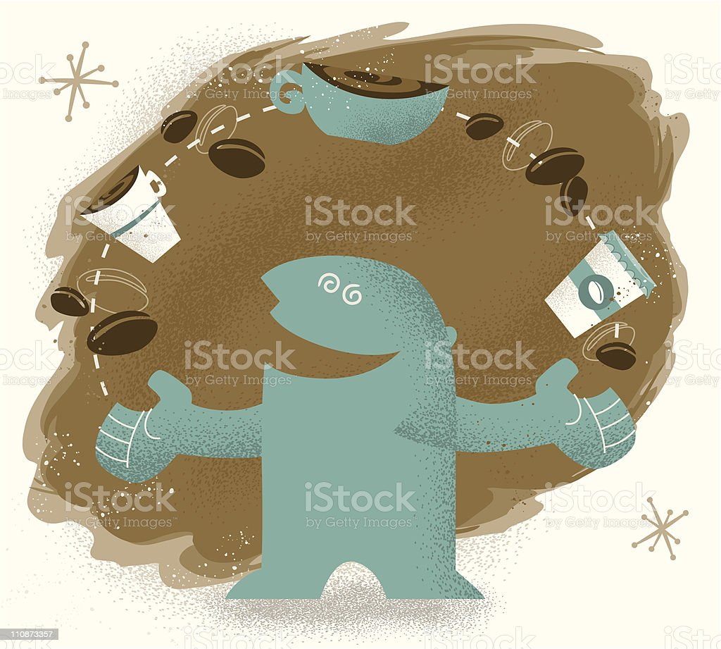 Wired On Coffee Stock Vector Art & More Images of 20th Century ...