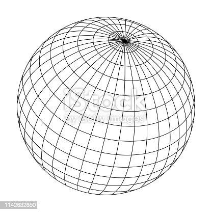 wired sphere frame illustration