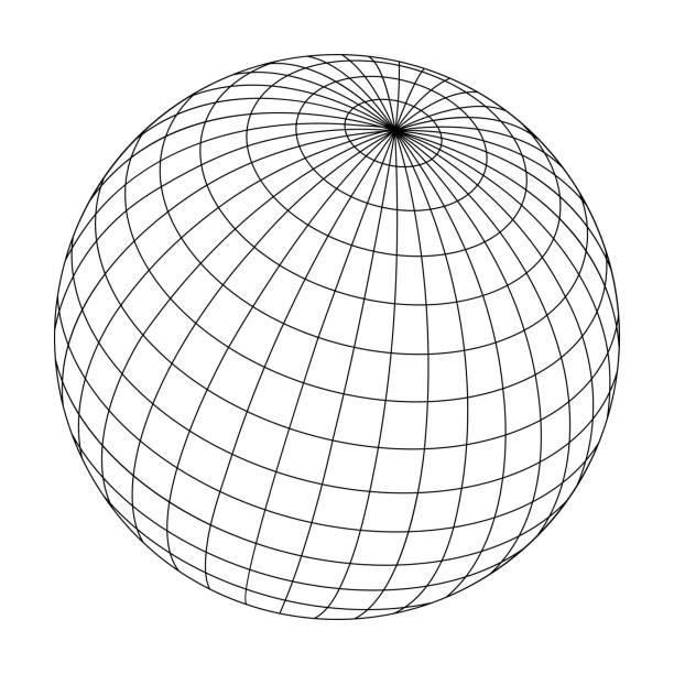 ワイヤード球体フレームのイラスト - 地球点のイラスト素材/クリップアート素材/マンガ素材/アイコン素材