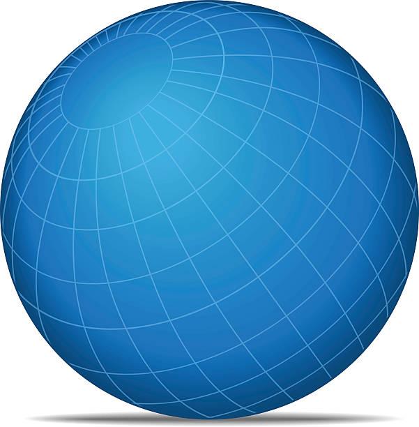 Gitternetzlinien Welt – Vektorgrafik