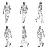 Free download of Human Body Wireframe vector graphics and