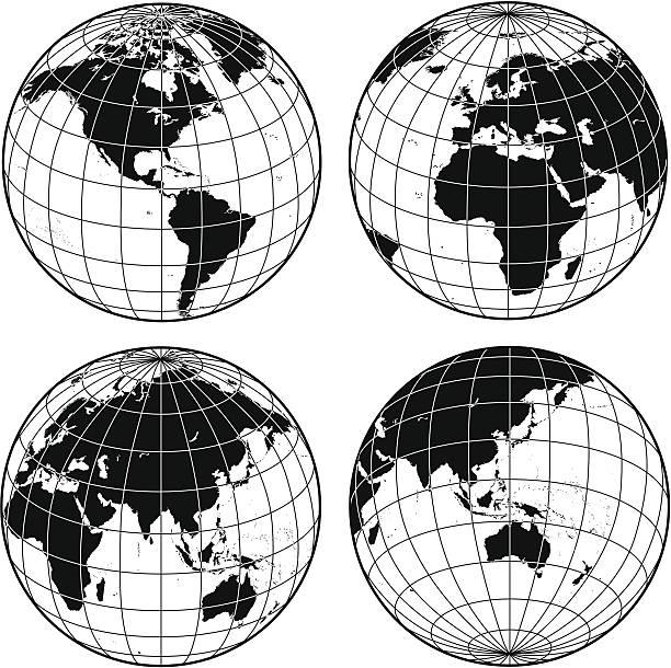 Gitternetzlinien globes – Vektorgrafik