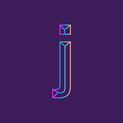 Wireframe lowercase Letter outline bevelled 3D alphabet design