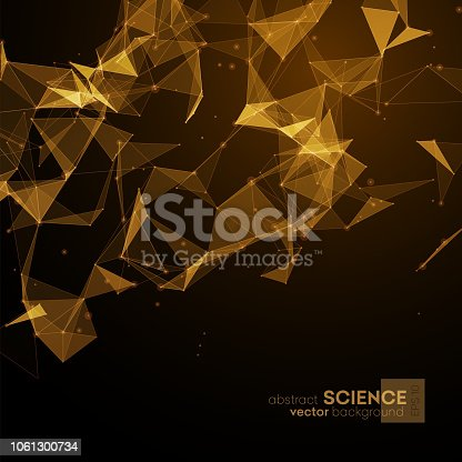 Wireframe mesh polygonal background.
