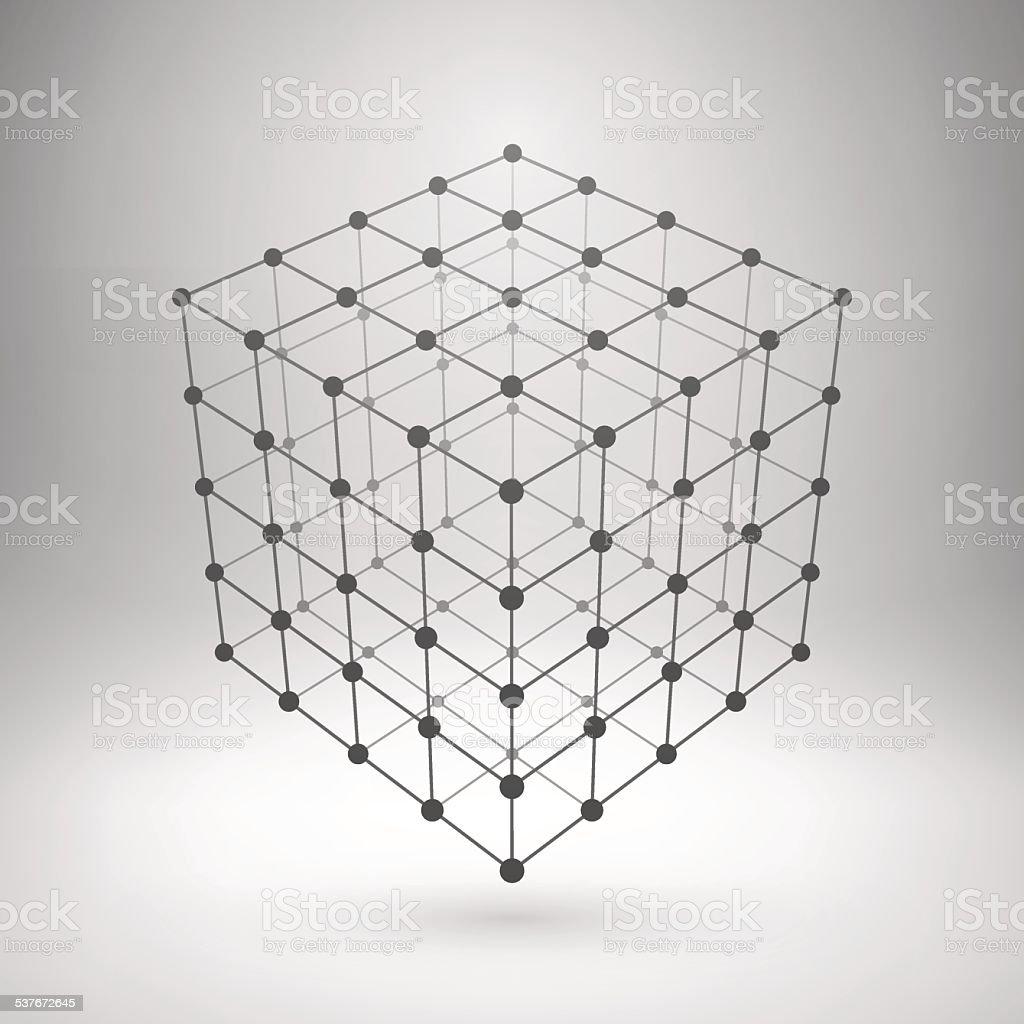 Gitternetzlinien Mesh Polygonal Cube Stock Vektor Art und mehr ...