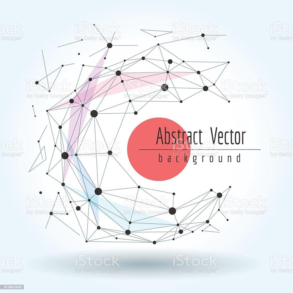Wireframe mesh polygonal sphere vector art illustration
