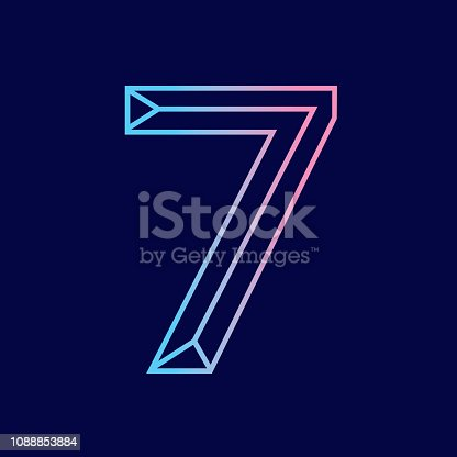 Vector illustration of a Wireframe number 3D alphabet lettering design . EPS 10