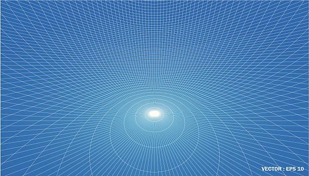 3 D Gitternetzlinien von contour Windung – Vektorgrafik
