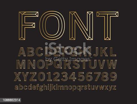 Vector illustration of a Wireframe 3D alphabet lettering design set. EPS 10
