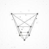 Wireframe polygonal elements