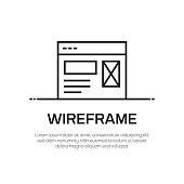 Wireframe Vector Line Icon - Simple Thin Line Icon, Premium Quality Design Element