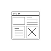 Wireframes Line Icon