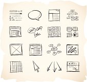 Website wireframe icons
