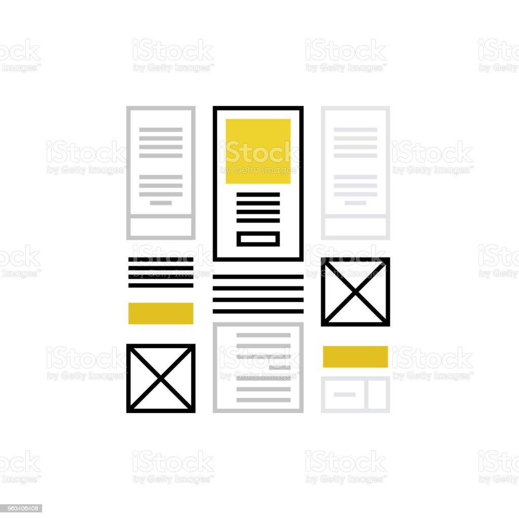 Wireframing Monoflat Icon - Grafika wektorowa royalty-free (Abstrakcja)