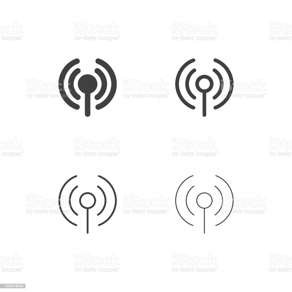 Wireless Access Point Icons Multi Series Stock Vector Art More