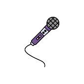 Wireless, audio, microphone icon. Element of color music studio equipment icon. Premium quality graphic design icon. Signs and symbols collection icon