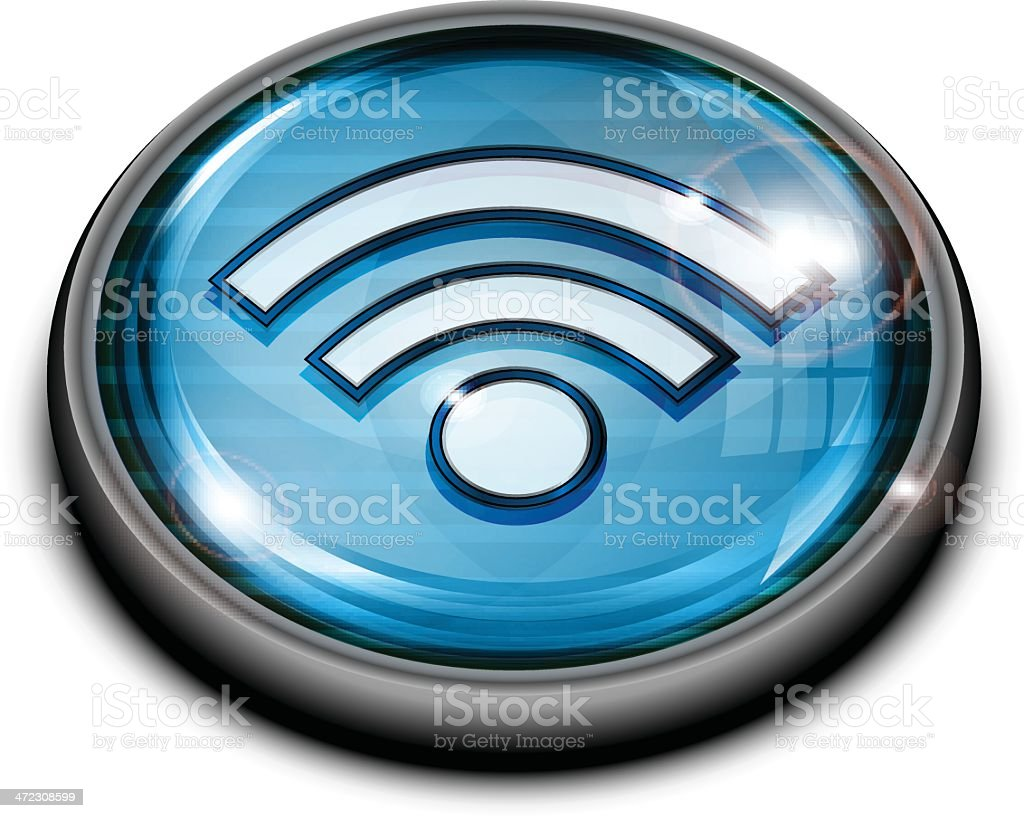 Wireless Button royalty-free stock vector art