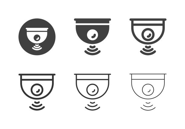 Wireless Camera Icons - Multi Series vector art illustration