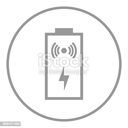 Wireless Charging Symbol Battery Icon Vector Stock Vector Art More