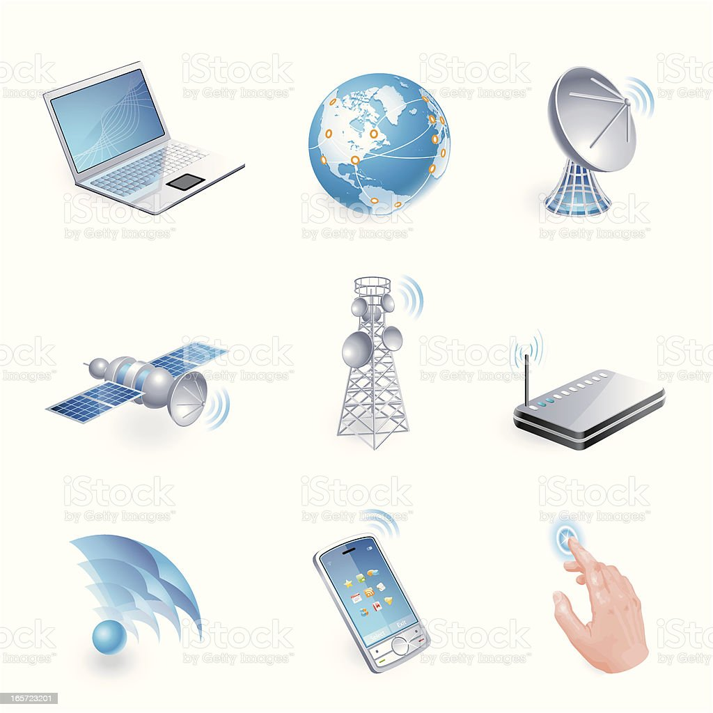 Wireless communication - 3D series vector art illustration