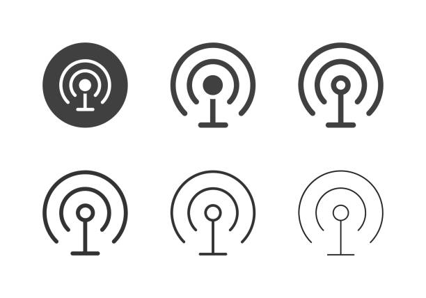 Wireless Communication Icons - Multi Series vector art illustration